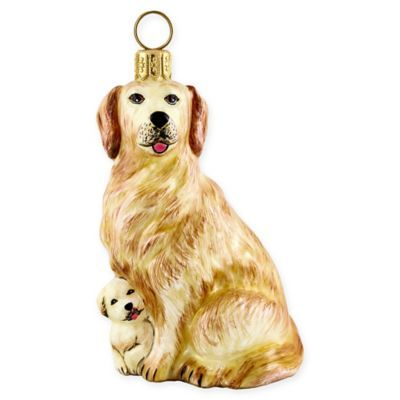 Joy To The World Collection Golden Retriever Mother And Puppy