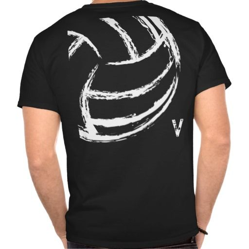 V Volleyball (Front & Back) T-Shirt | Volleyball, Softball jerseys ...
