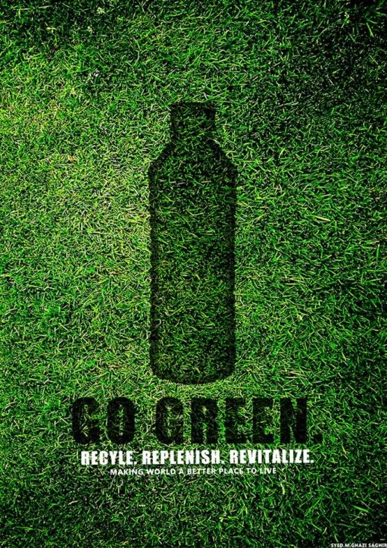 33 Contoh Poster Adiwiyata Go Green Lingkungan Hidup Hijau Go