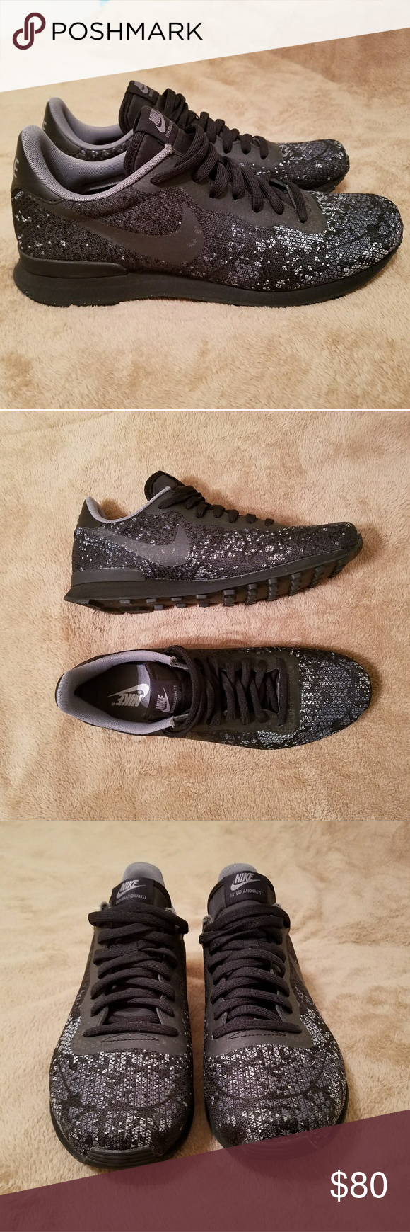 low priced b78d3 a4ad2 Nike Internationalist. Mens sz 10.5 Black and grey Very nice, super light  shoe. Comfortable and very stylish. Note- Do not hv box anymore though.