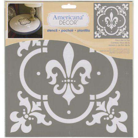 Deco Art Ads 04 Americana Decor Stencil Fleur De Lis Tile Walmart Com In 2020 Stencil Decor Americana Decor Mandala Stencils