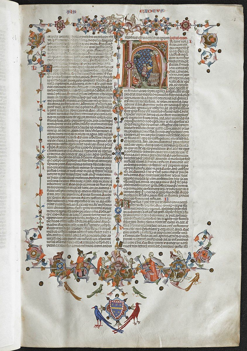 Anjou Bible, folio 017R, Napoli, 1340, KU Leuven Libraries, Maurits