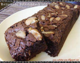 Catatan Nina Brownies Panggang Irit Telur Resep Makanan Penutup Kue Lezat Kue Kering