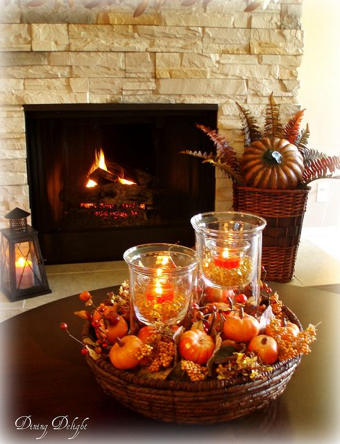 Living Room In Fall Colours Fall Decor Coffee Table