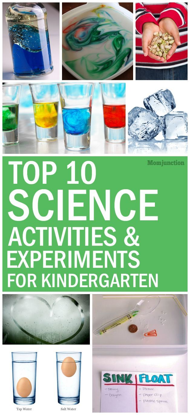 Top 10 Science Experiments For Kindergarten