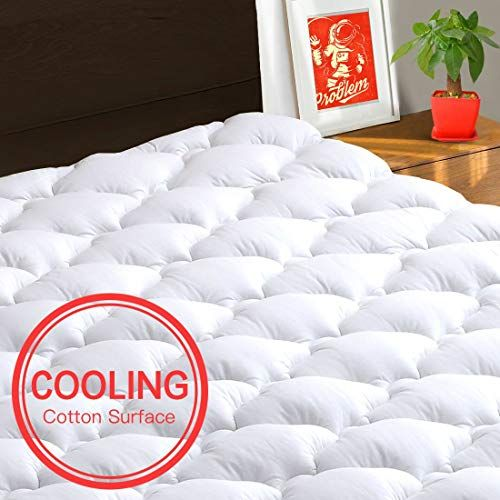 Texartist Mattress Pad Cover King Cooling Mattress Topper