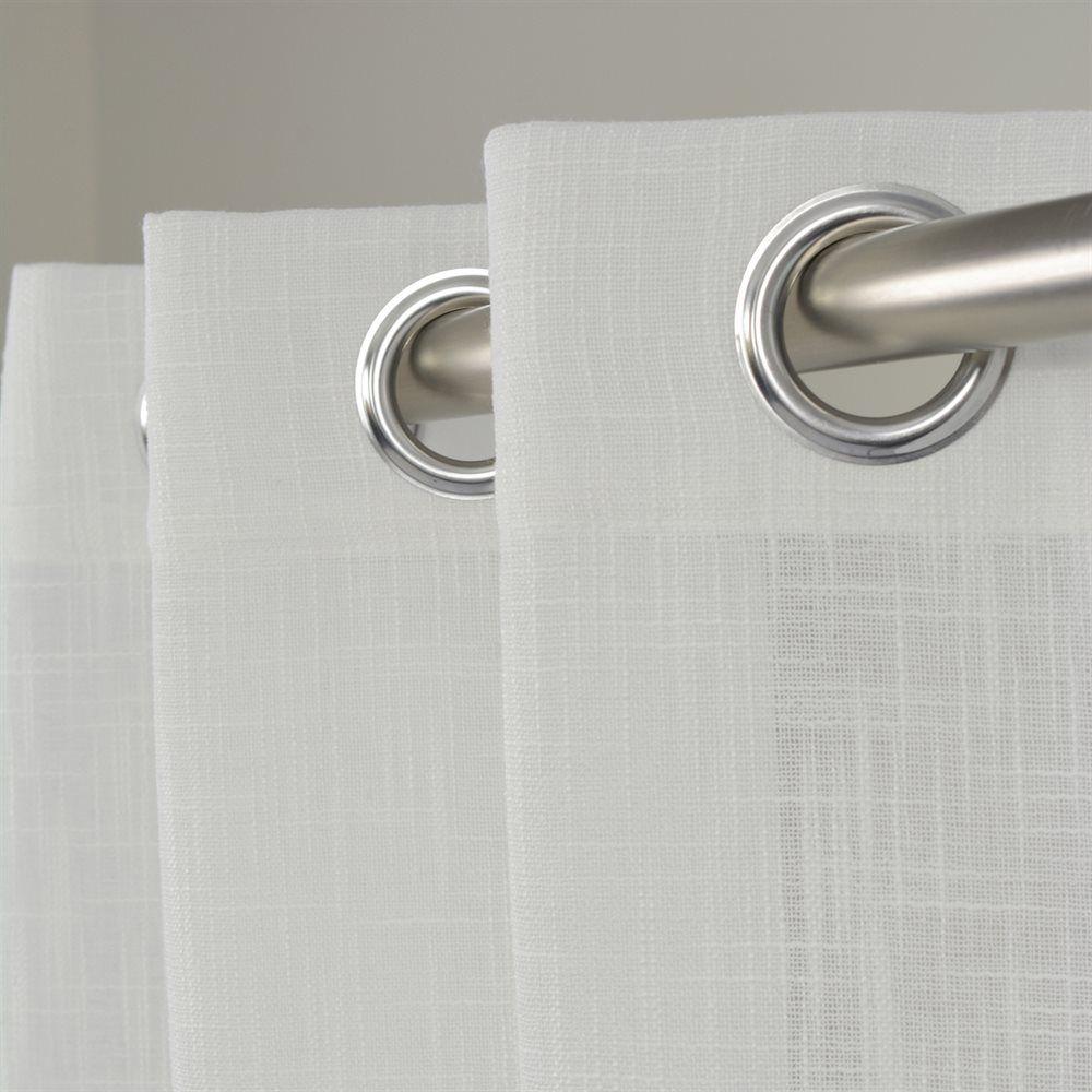 Shop LJ Home Fashions Aideen Textured White Semi Sheer