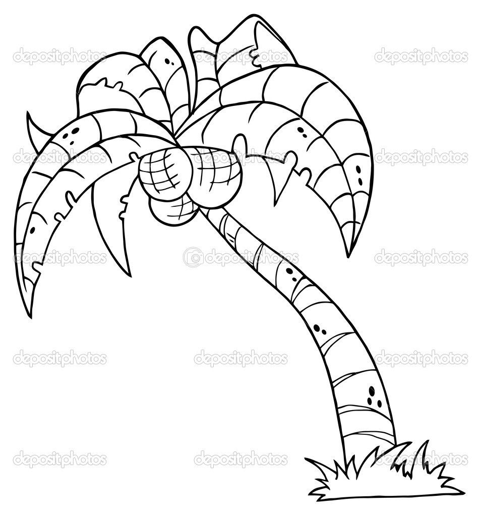 Printable Palm Tree | Palm Tree Coloring Pages For Kids | Landscapes ...