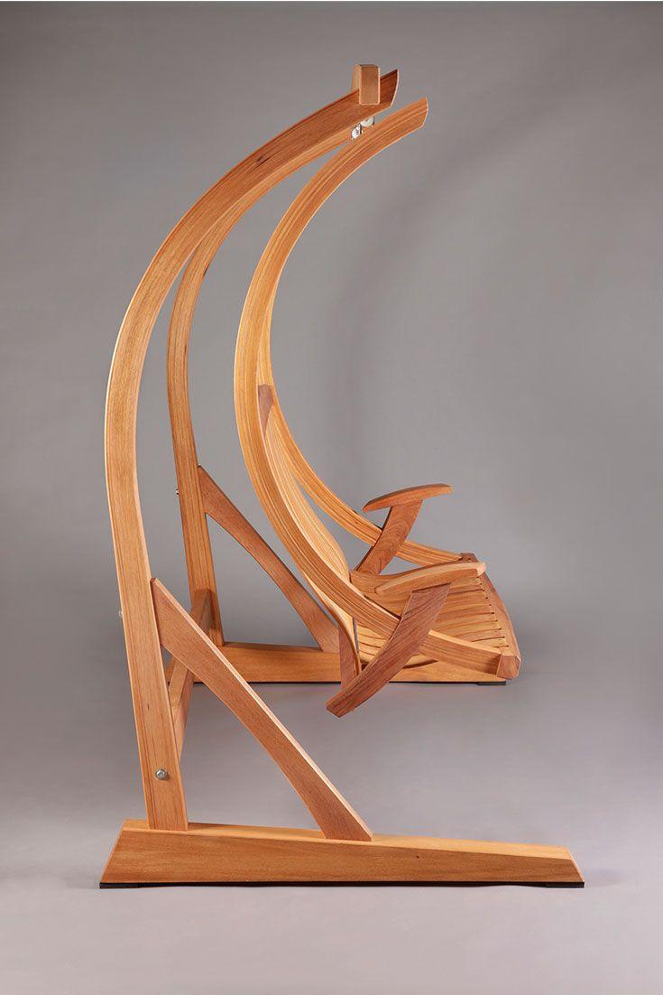 Mahoganyoutdoorswingsunnivasideview wooden hammock in