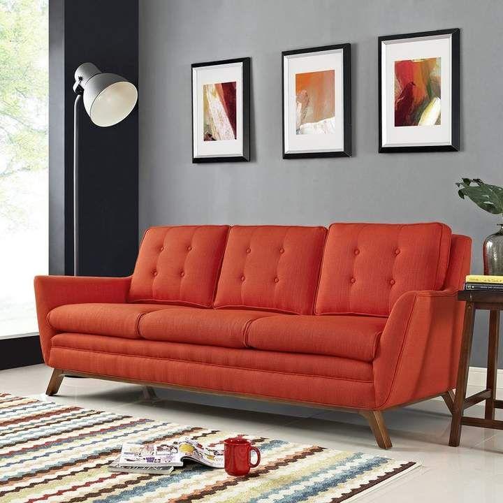 b62efdb059ae79ef30c2113051ead40e - Better Homes & Gardens Porter Fabric Tufted Futon Rust Orange