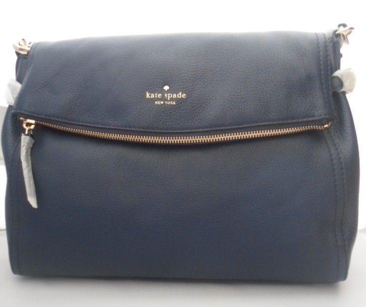 Kate Spade Cobble Hill Little Minka Crossbody Handbag In French Navy Blue Katespade Satchel