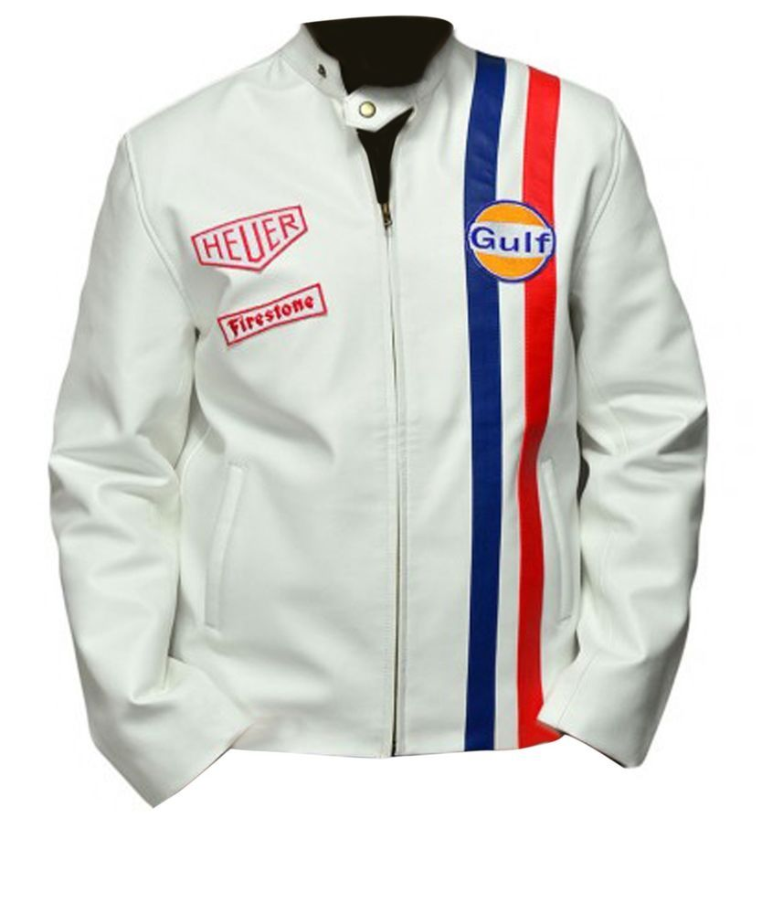 caff7fd3f Le-Mans-Steve-McQueen-Gulf-Jacket #Handmade #Motorcycle | Leather ...