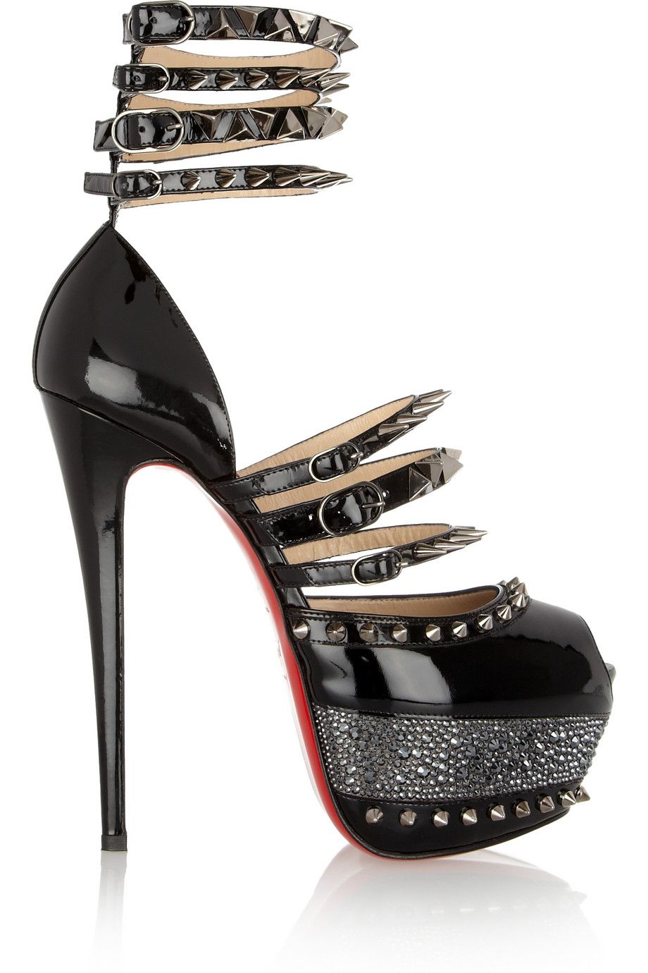 Christian Louboutin | 20th Anniversary Isolde 160 patent-leather sandals | NET-A-PORTER.COM