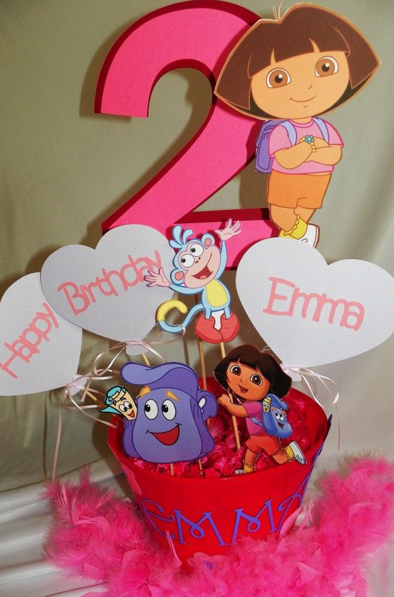 Dora The Explorer Birthday Party Centerpieces por PartiesByTristan
