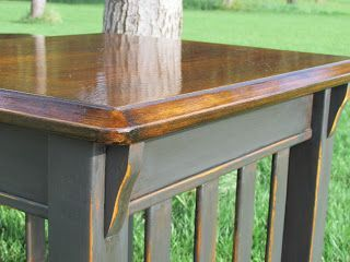 Paint Furniture Mission Style End Table Refinished In Ascp Graphite Relax Home Decor