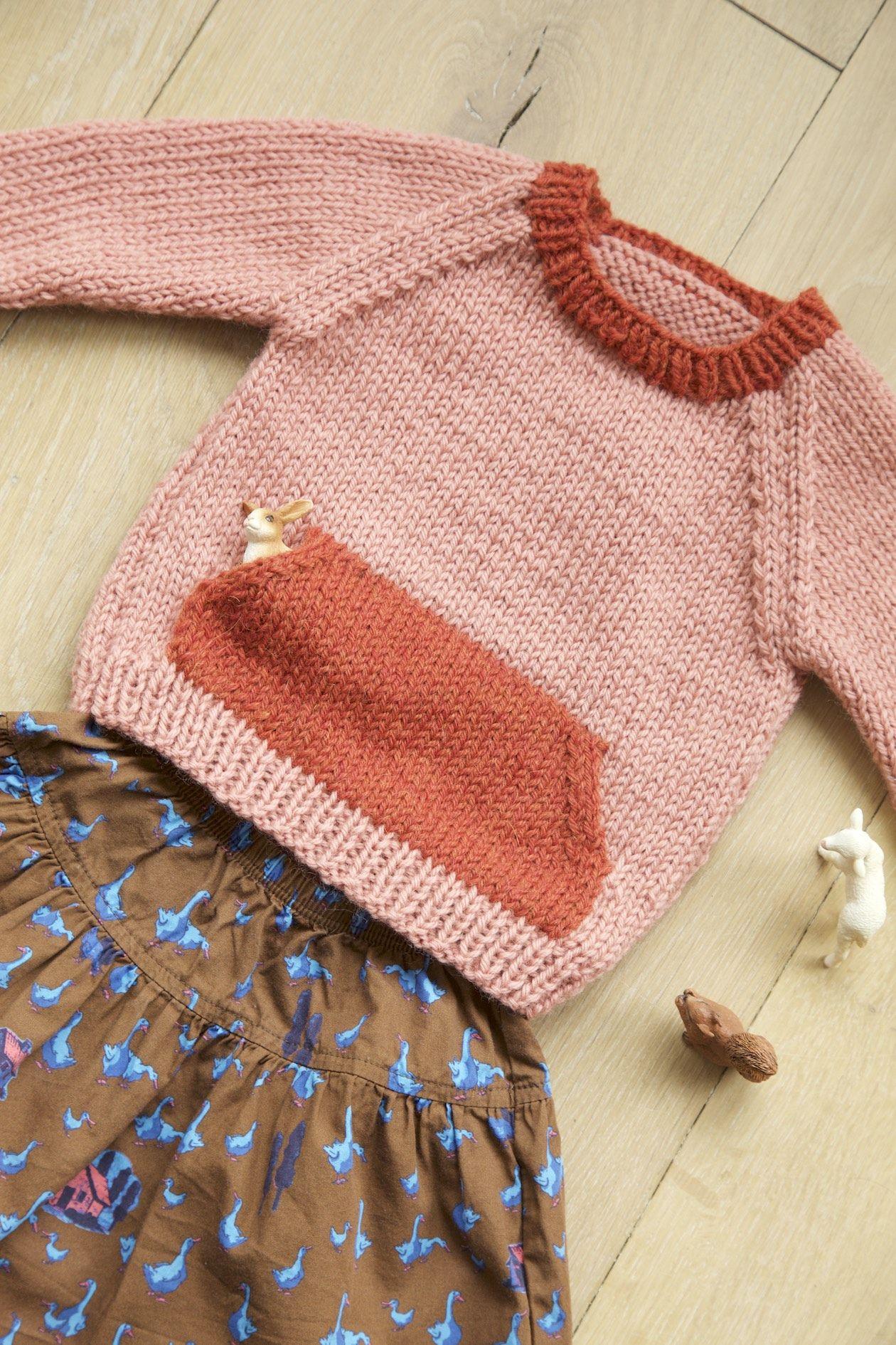 The Quokka sweater knitting pattern: a customised knitting