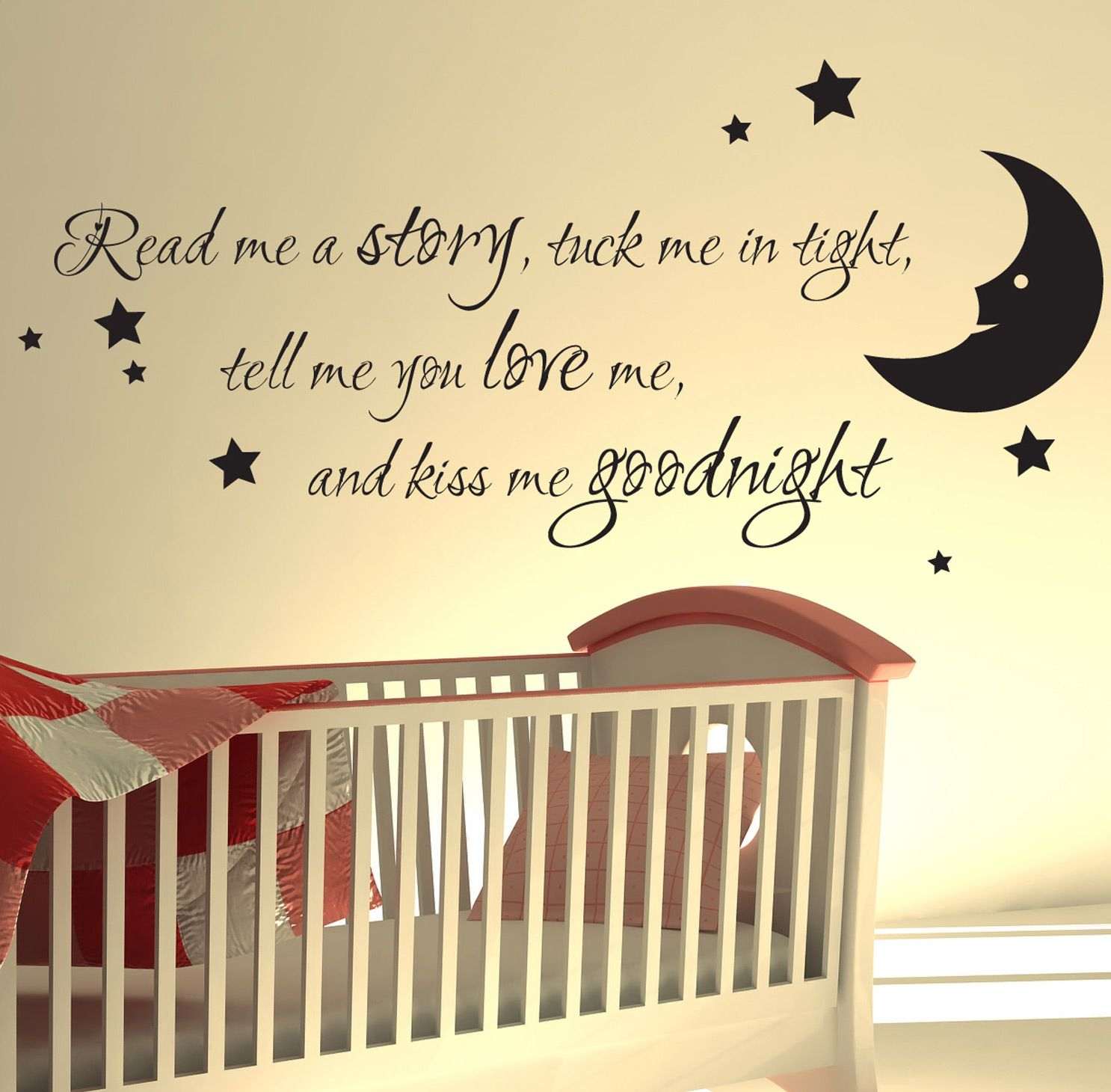 Nursery wall sticker read me a story kids art decals quotes w47 ...