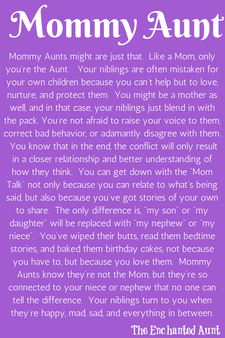 Read About the 4 Different Types of Aunts - | Aunt quotes ...