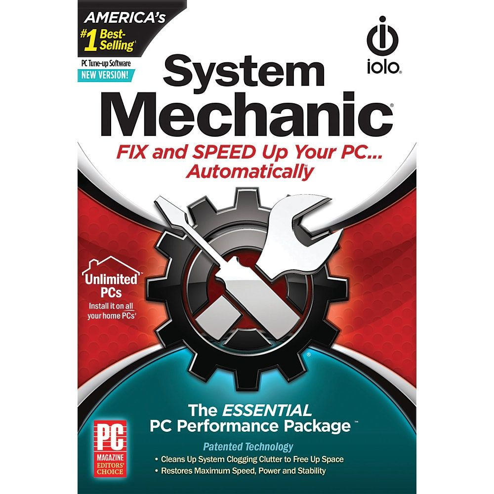 Iolo Technologies System Mechanic Traditional Disc Software Pc