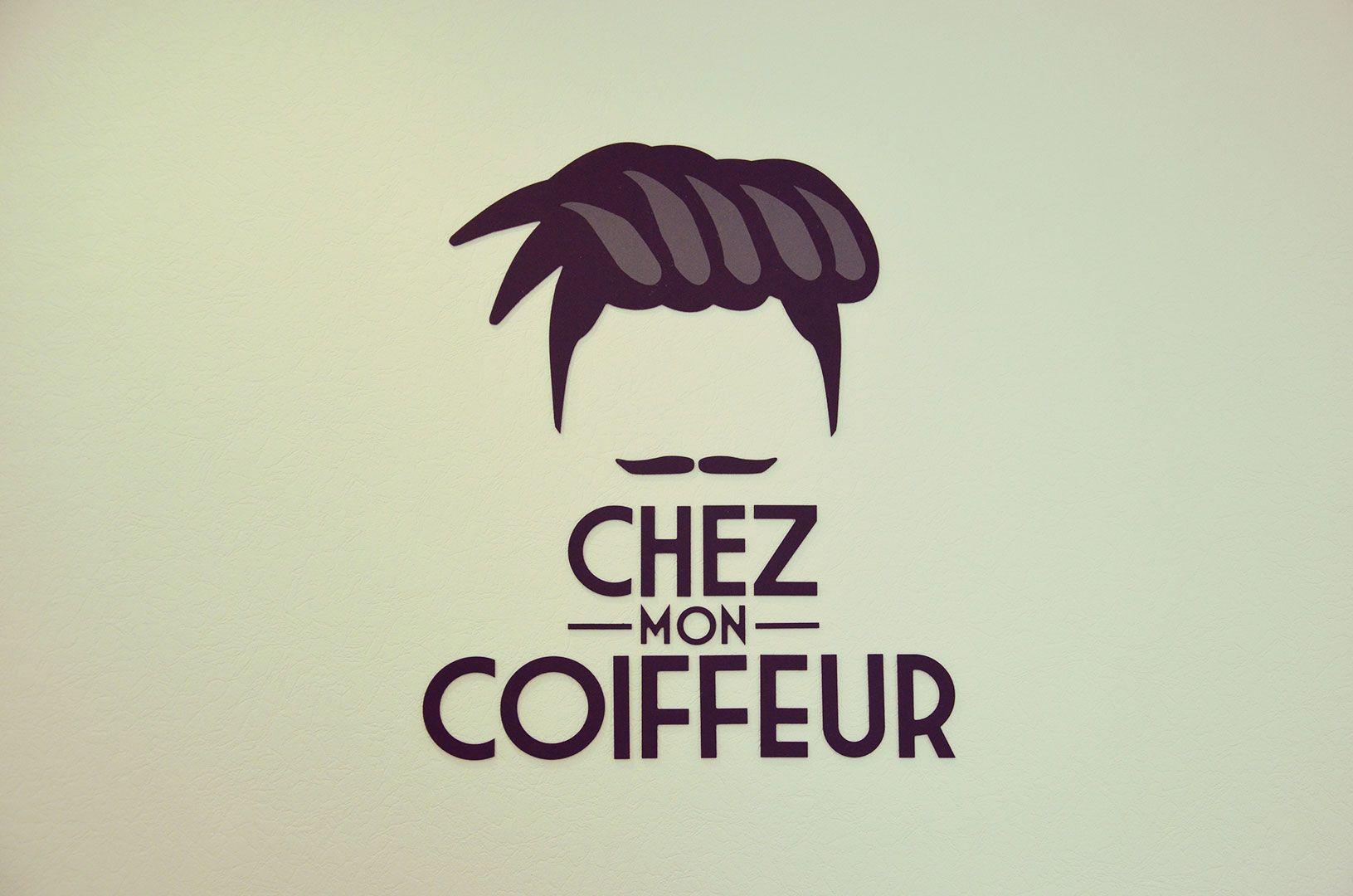 Logo du salon de coiffure Chez mon coiffeur #logo #cirejaune #coiffeur | Logo coiffure ...