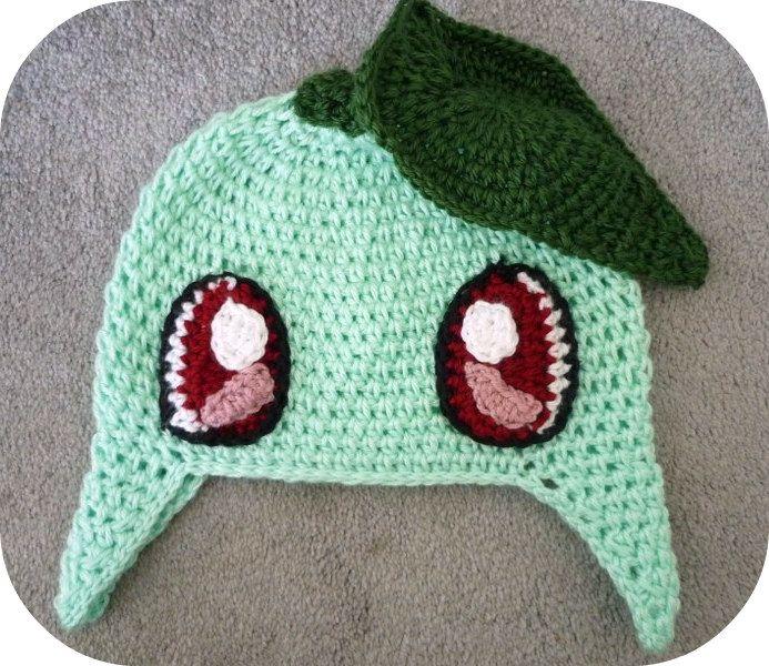 Chikorita Beanie Pokemon | Crochet ideas | Pinterest | Gorro tejido ...