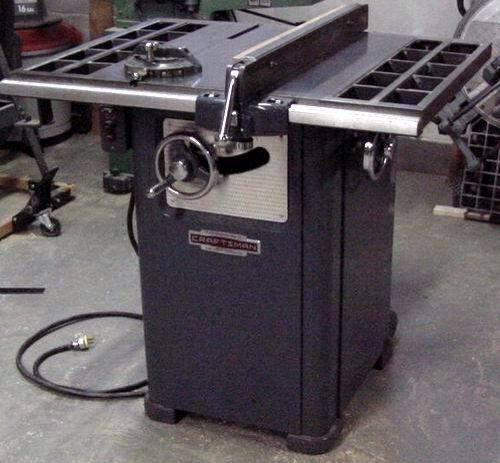 Floor Saw Craftsman Table Saw Woodworking Power Tools Vintage Tools