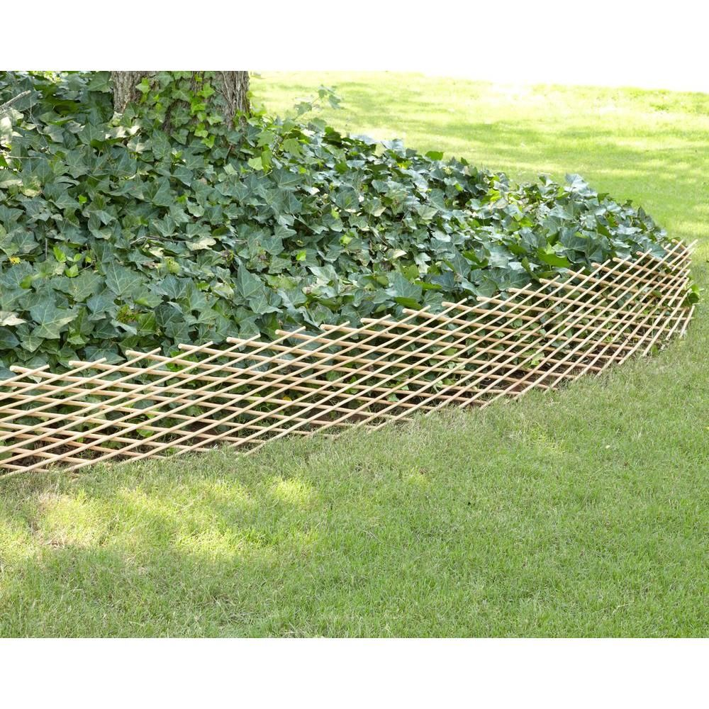 W Bamboo Expandable Willow Fence Or Trellis 4477217 At The Home Depot    Mobile