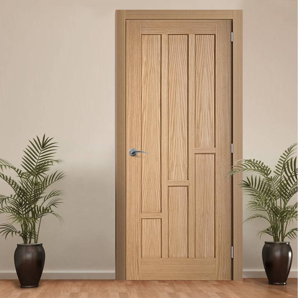 Door and Frame Kit Coventry Contemporary Oak Panelled Door & Door and Frame Kit Coventry Contemporary Oak Panelled Door | Doors ...