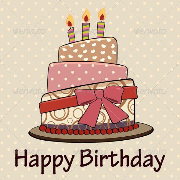 vintage happy birthday cake card vintage style birthday cakes on birthday cake and wishes card