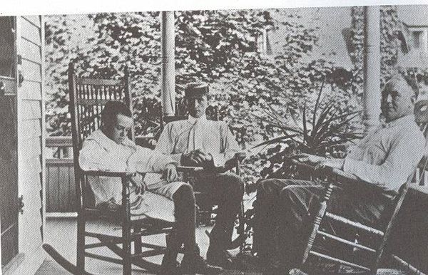 Eugene O Neil On Porch With Father Eugene O Neill New London