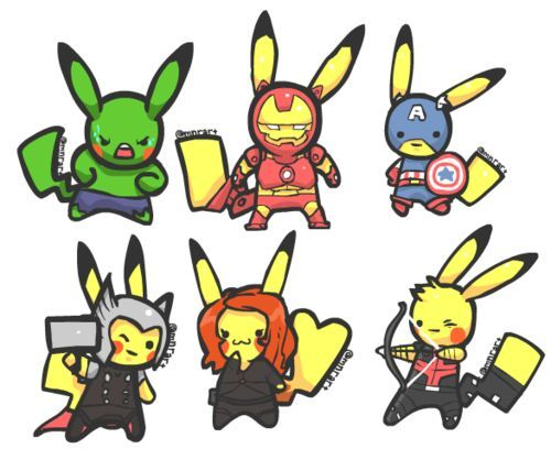 pikachu avengers - Google Search | Pikachu | Pinterest | Pokémon ...