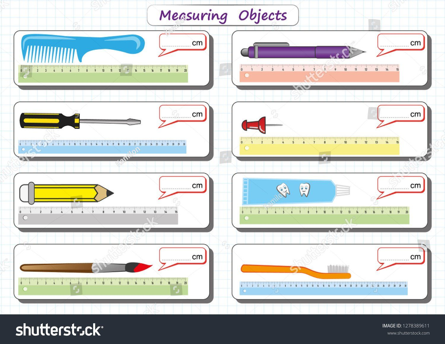 Measurement Worksheet For Kindergarten N O N
