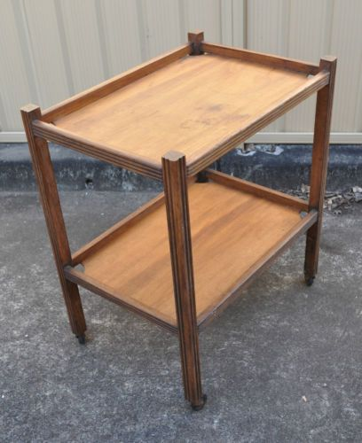 1930s vintage art deco old mobile wooden tea trolley two for Mobili wooden art