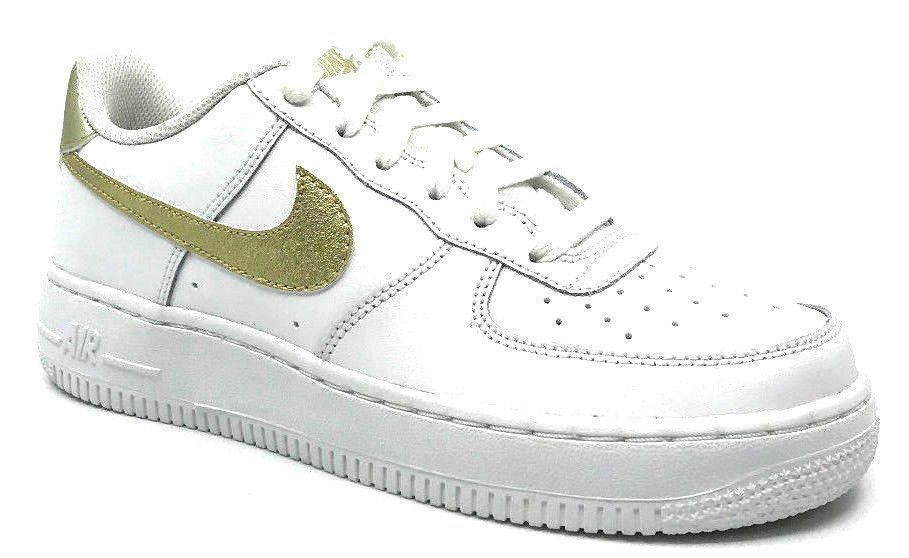 new style 0789c c05bc eBay  Sponsored Nike Air Force 1 (GS) Girls Sneaker White Metallic Gold  314219-127 Size 4.5Y