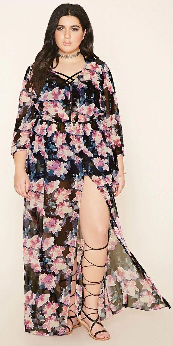 Plus Size Floral Maxi Dress Plus Size Outfits Fashion Plus Size Fashion