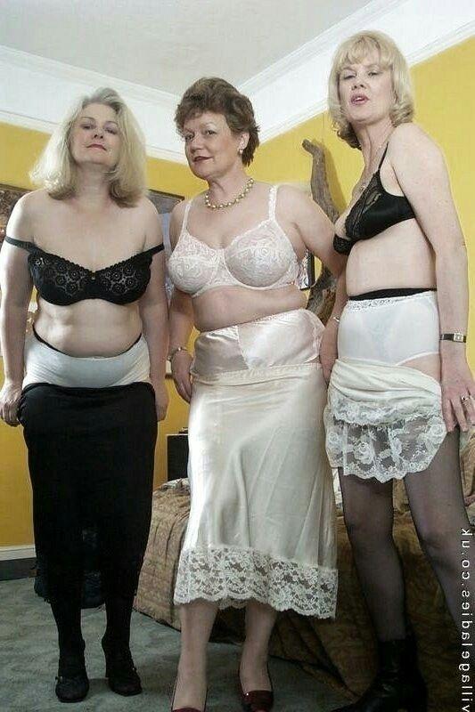 Mature nylon panties brassiere slip