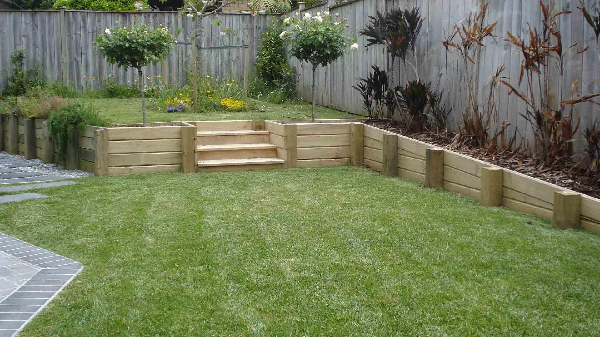 Retaining Walls Junglefix Landscaping Retaining Walls Wood Retaining Wall Garden Retaining Wall
