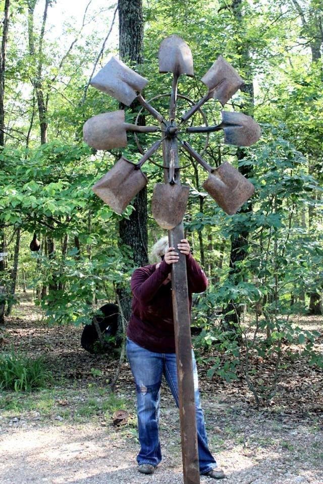 Garden Art Made From Shovels Metal Sculptures Garden Metal Yard Art Metal Garden Art