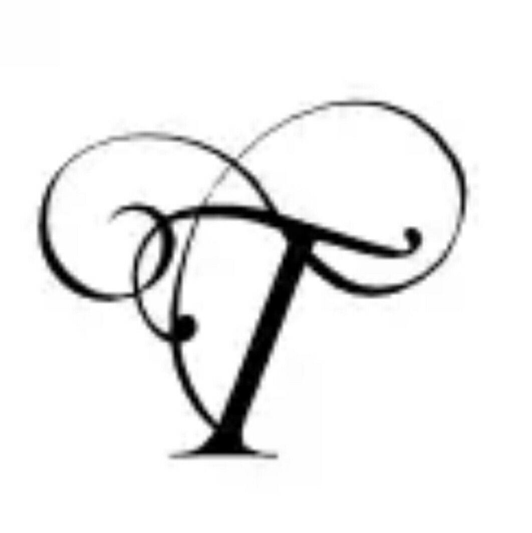 T letter   Calligraphy alphabet, Alphabet style, Hand ...