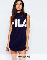 Fila Tank Dress With High Neck & Large Front Logo   Fashion