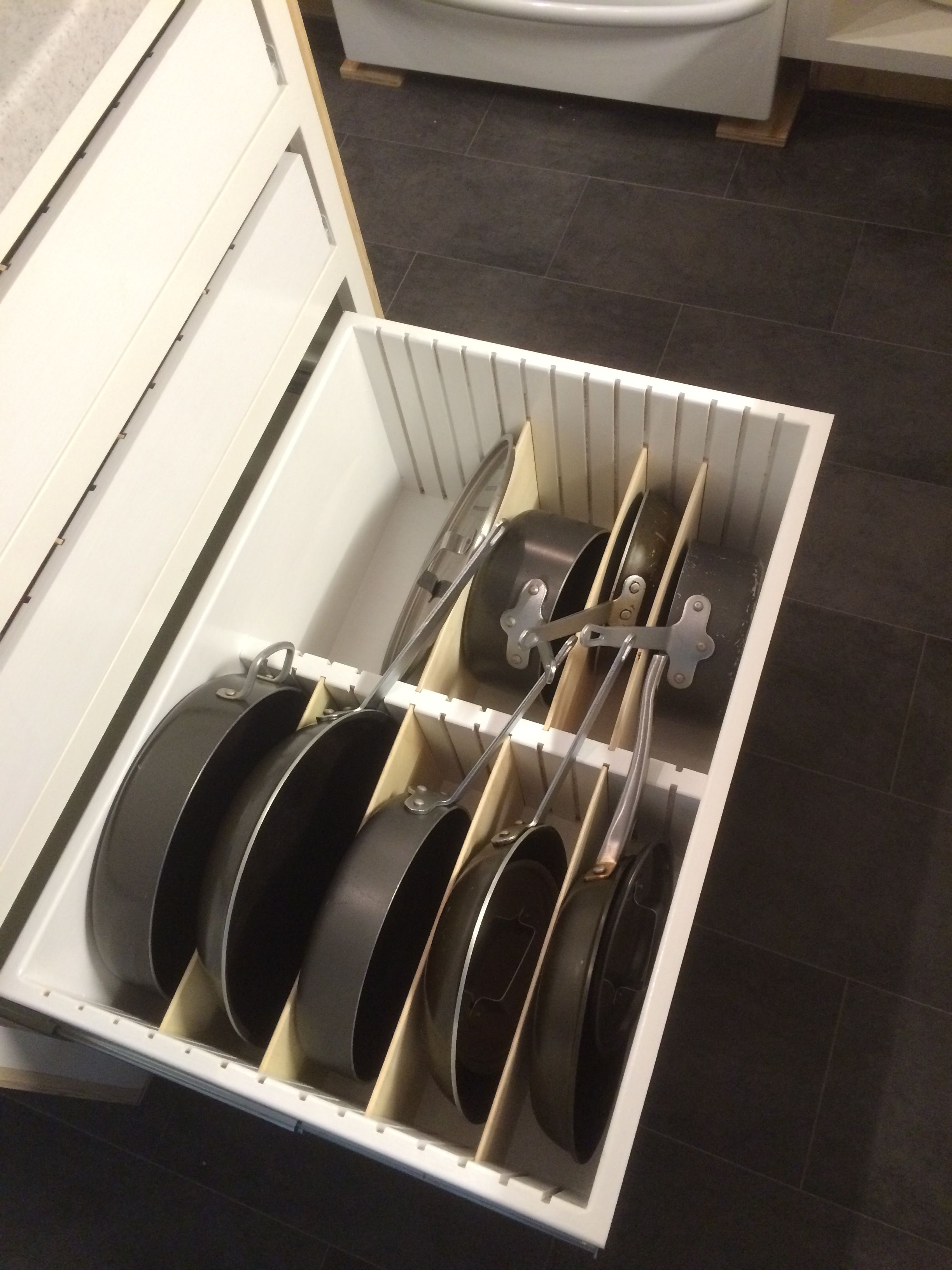 Adjustable Pot And Pan Storage Drawer I Made For My Wife Interior Design Kitchen Kitchen Interior Pan Storage