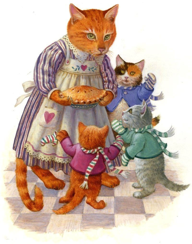Картинки сказки о кошках