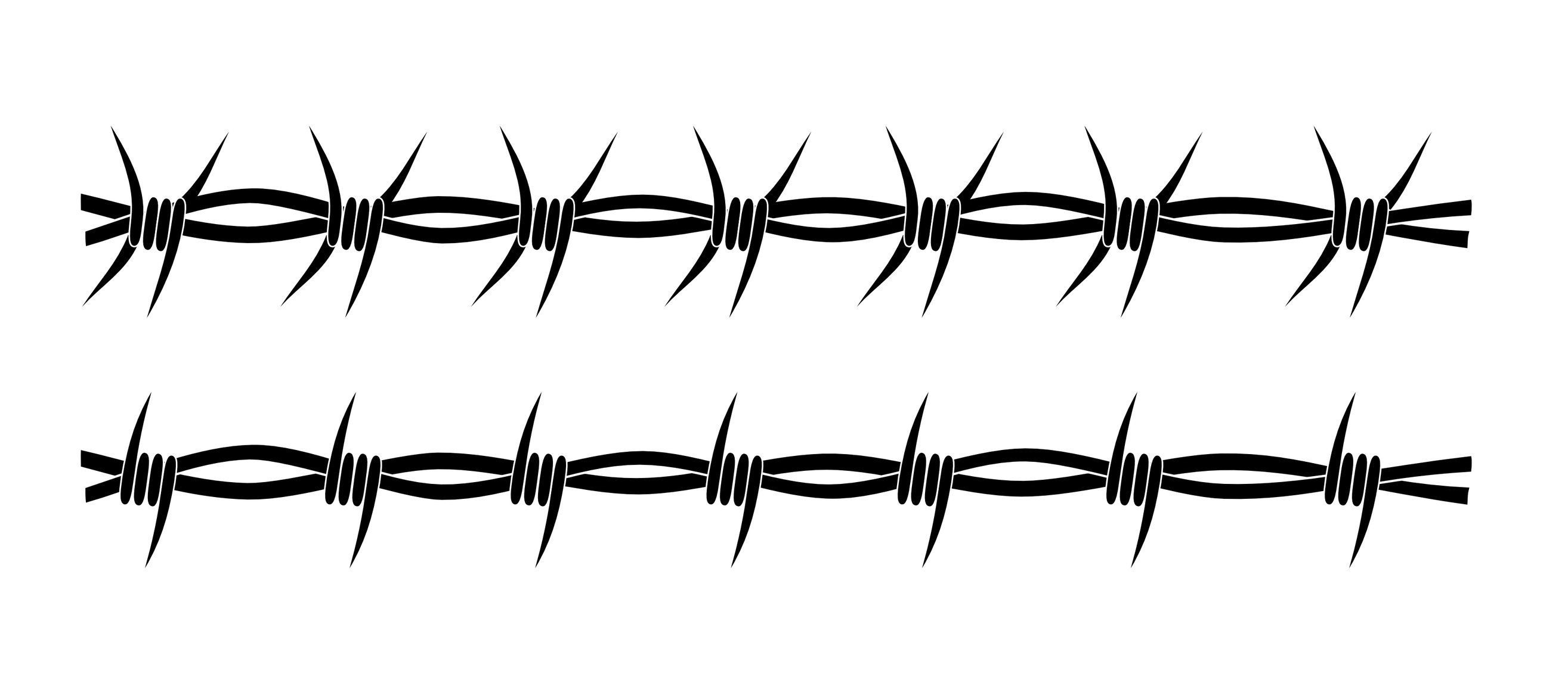 Craft Edge View Topic Barbed Wire Frame Barbed Wire Drawing Barbed Wire Silhouette Stencil