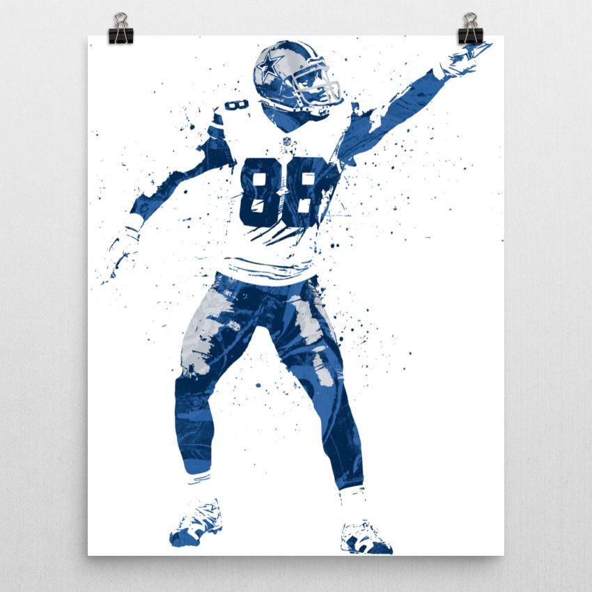 Dez Bryant First Down Dallas Cowboys Poster #dezbryant
