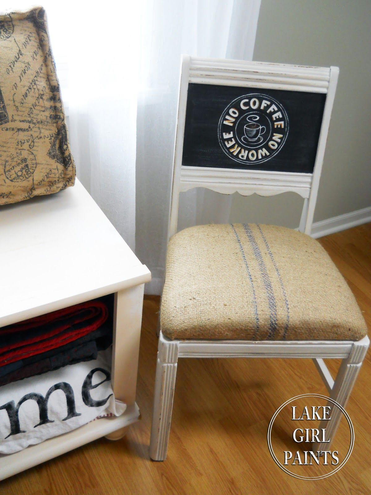 A sweet kitchen chair makeover lake girl paints chairs