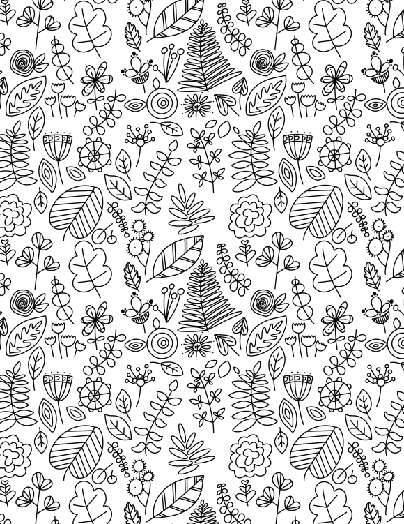 Free Coloring Pages To Print Or To Color On An Ipad Botanical Doodles Are My Favorite Kind Of Color Free Coloring Pages Coloring Pages Coloring Pages To Print