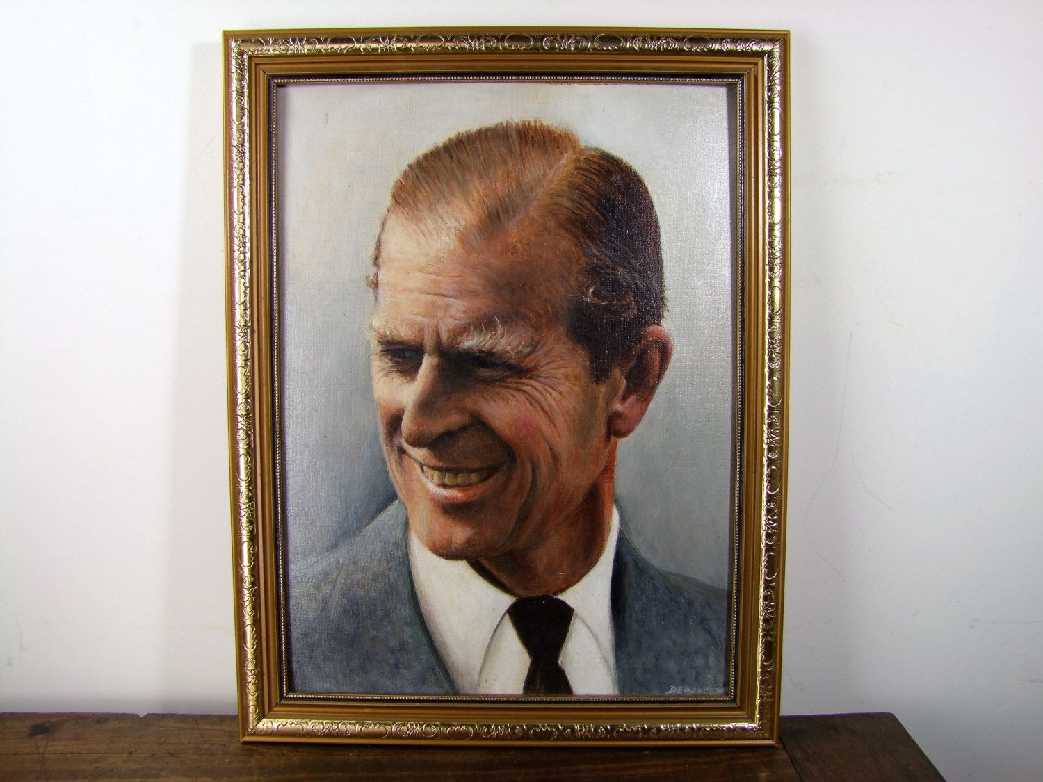 Prince Philip DUKE OF EDINBURGH Incredible Original Vintage Oil Painting Portrait. Investment Piece. English Royal Family. by BeauChateauBoutique on Etsy https://www.etsy.com/listing/479068556/prince-philip-duke-of-edinburgh