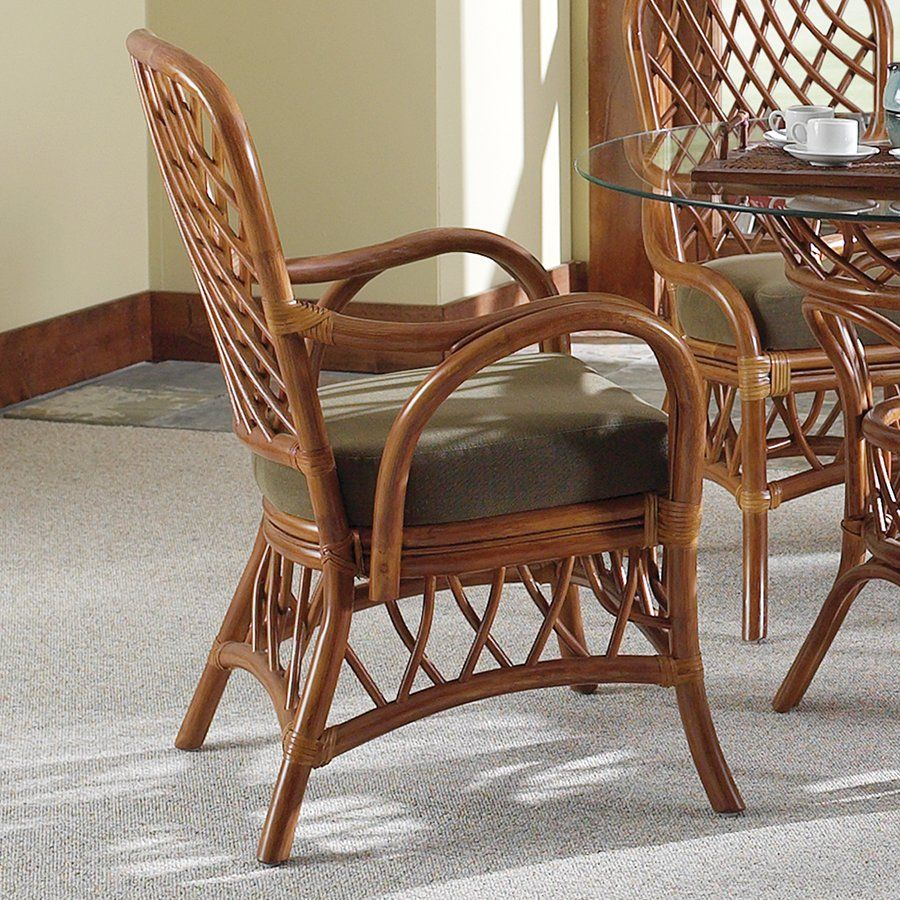 Bamboo Chair With Arms: South Sea Rattan & Wicker