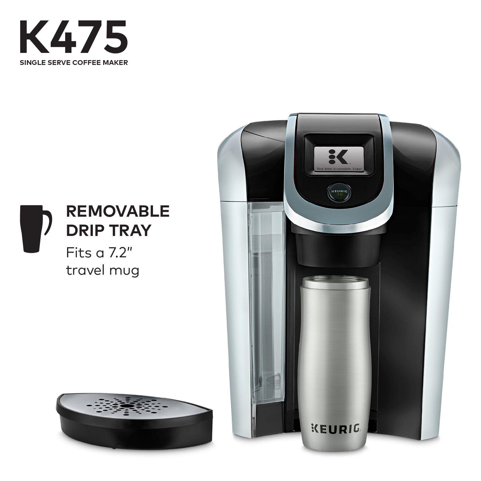 Keurig K475, Single Serve KCup Pod Coffee Maker