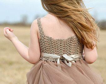 Marfil bebé vestido de tul con cintura imperio y por AylinkaShop